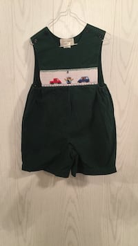 baby boy forest green jumper with cars and police man smocking Tuscaloosa, 35405