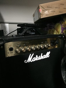 BC RICH Warlock With Marshall MG15FX 40W Amp and Pedal