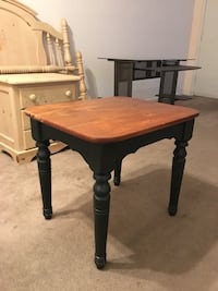Forest green end table