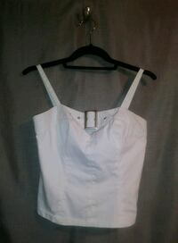 WHITE BUCKLE TANK TOP