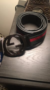 Black leather gucci belt with silver buckle Washington, 20020