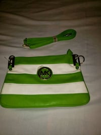 green and white leather crossbody bag 2273 mi