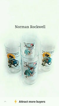 4 Norman Rockwell drinking glasses Toronto, M6M 1T1
