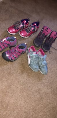 Toddler's size 2 BRAND NEW custom Jordan's , glitter puma and keens and timberlands Arden, 28704