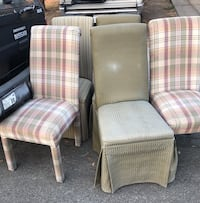 5 cloth covered chairs - $10 each  Elk Grove, 95624