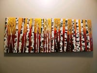 Birch Forest ORIGINAL Painting Abstract Pickering, L1V 6W5