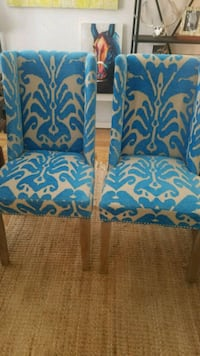 two  padded dining room chairs Dallas, 75252