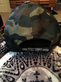 Gray and black camouflage baseball cap