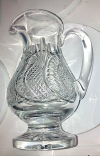 Waterford seahorse pattern pitcher Boston