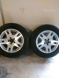 2 Mercedes Tires with Rims