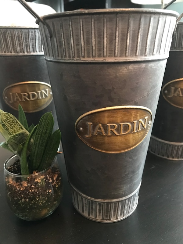 "Used Tall Decorative ""Jardin"" Pots for sale in Clifton - letgo"