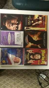 Six assorted title dvd's