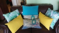 blue and brown fabric sofa set Laval, H7M 1C8