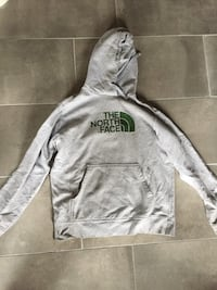 Gray and green the north face pullover hoodie 563 km