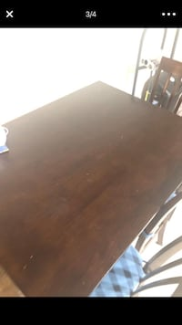 rectangular brown wooden table with chairs Beltsville, 20705