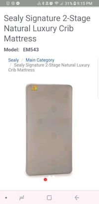 Sealy crib mattress  Poway, 92064