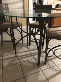 Glass table with 4 chairs  Katy, 77449