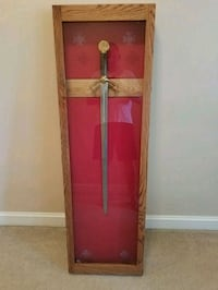 Wood & Glass Sword Case (Sword not Included)