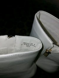 pair of white leather loafers Whitby, L1N