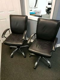 two black leather rolling armchairs Annandale, 22003