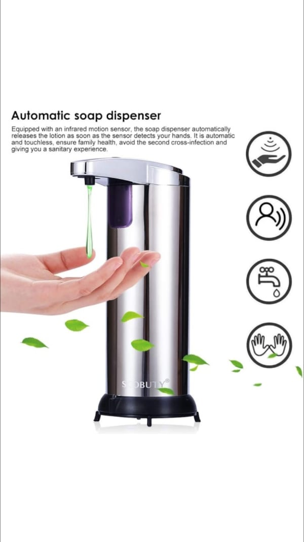 Automatic Soap Dispenser Stainless Steel New - cheaper than Amazon cabb6abf-4361-49d6-ae51-e86b60638730