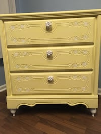 Solid wooden dovetail handpainted chest