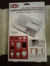 NEW and still in box;   $10.00---300 Pieces---Stick On Furniture Protective Pads--11 pad styles  DISTRICTHEIGHTS