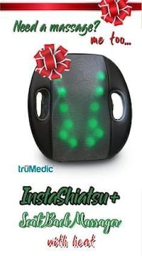 TruMedic IS-5000 InstaShiatsu+ Seat Back Massager With Heat Victoria