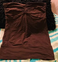 Mossimo Brown Tube Shirt Sz Small Cabot, 72023