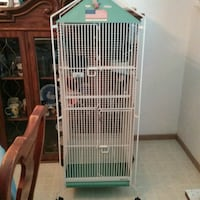 white and teal steel bird cage Montclair, 91763