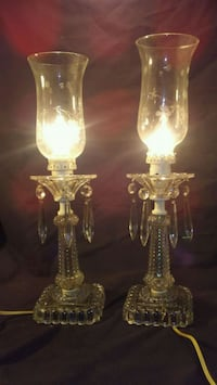 two clear glass candle holders Indianapolis, 46113