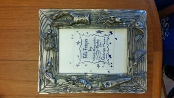 Heavy pewter picture frame