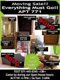 Moving Sale! Open House. Furniture, Art, and more Arlington