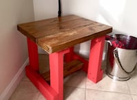 """Rustic """"farm table"""" style stool small bench"""