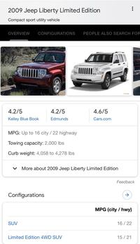 Jeep - Liberty Limited Red  - 2009 Salem