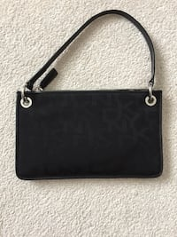 monogrammed black DKNY leather shoulder bag Coquitlam, V3E