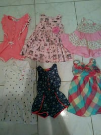 Baby girl dresses and rompers size 2T