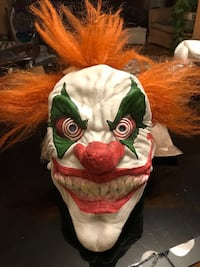 NEW Scary CLOWN Halloween Mask - Adult Sz Great Falls, 22066