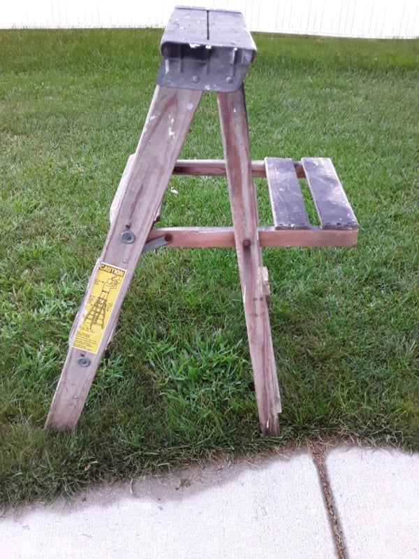Two Wooden Vintage Ladders 8ae89cf4-99e1-4652-89f3-b3b0db128a92