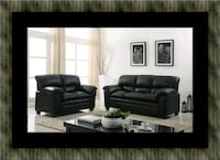 Black sofa and loveseat Fairfax