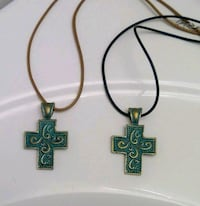 Verdigris Patina Cross Necklace Frederick, 21701