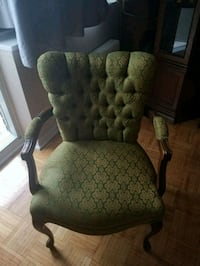 green and brown wooden armchair Toronto, M4A 1L2