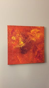 orange and yellow canvas abstract painting Winnipeg, R3K 1R2