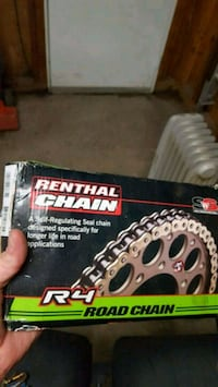 Brand new renthal gold sport bike chain. 461 mi