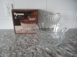 *Vintage* Roxanne VMC 3 piece chips and dip set *With Original Box*