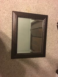 Square brown wooden framed wall mirror New Orleans, 70114