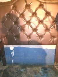 brown tall pillow cushion head board