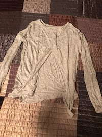 Women's Gray long-sleeved shirt Without back that crosses 49 mi