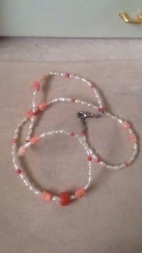 Baroque Pearl & Coral Necklace  Edmonton, T6E 0M1