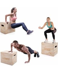 Custom Heavy Duty Made Wood Plyo Box for Fitness and Training  Winnipeg